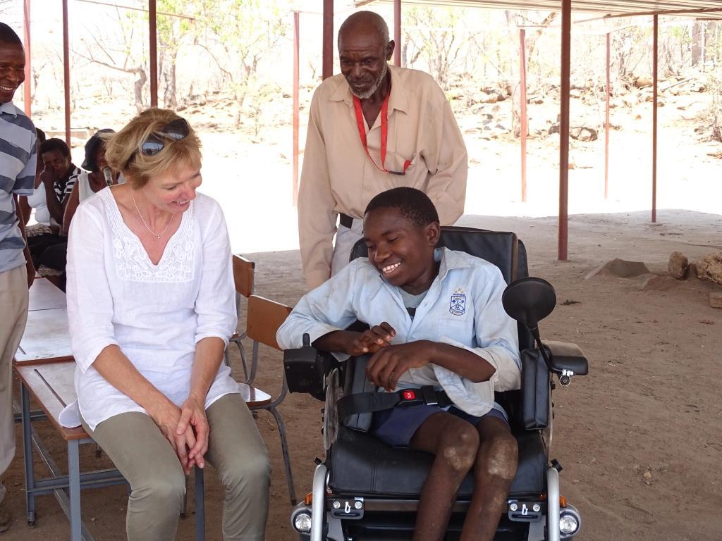 Ein Rollstuhl für Mongiwethu
